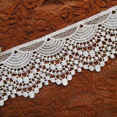 1 metre of 30mm ivory cream lacy flower detail trim wedding dress trim UK seller