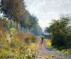 """""""The Sheltered Path,"""" Claude Monet, 1873"""