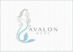 Logo for sale: Soft and gentle mermaid woman logo design. The female mermaid is designed with a soft and elegant form to capture the beautiful essence of this mythical mermaid figure.