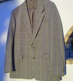 Mens Sports Jacket  French made Checked by csclothes on Etsy