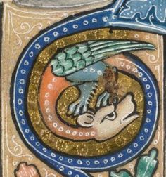 Detail from The Luttrell Psalter, British Library Add MS 42130 (medieval manuscript,1325-1340), f177v