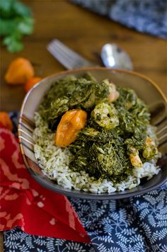 Casava leaf stew with chicken one of my favorite liberian dishes 4 divianconner liberian fry cassava leaf soup with rice cheyy forumfinder Gallery
