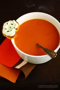 Roasted Tomato Soup - this is Gordon Ramsey's recipe, originally.