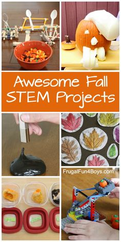 Fall STEM Activities that are Engaging and Fun! Pumpkin science, candy corn catapults, leaf art, and more. Harvest Activities, Apple Activities, Autumn Activities For Kids, Fall Crafts For Kids, Kids Crafts, Popsicle Stick Crafts, Craft Stick Crafts, Craft Sticks, Girl Scout Crafts