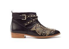 Zara szegecses fekete női bokacsizma – Shopping.hu