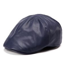 9b2419675ae Men Women Artificial Leather Ivy Beret Cap Bonnet Newsboy Cabbie Gatsby  Flat Golf Hat Artificial Leather