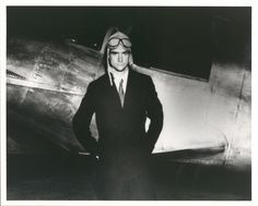 "Howard Hughes standing beside the Northop Gamma Racer on January Part of the UNLV Libraries ""Welcome Home Howard"" digital collection."