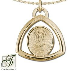 14K Yellow Gold Triangle - 14mm Fingerprint - (Does not include chain) $799.99 Fingerprint Jewelry, Triangle, White Gold, Sterling Silver, Chain, Mirror, Prints, Yellow, Mirrors
