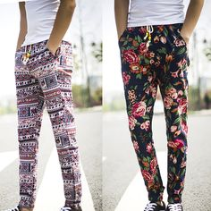 2016 Fashion Men Jogger Cotton Floral Pants Spring Causal Harem Pencil Trousers #Unbranded #CasualPants