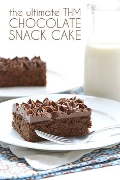 The perfect THM low carb chocolate snack cake. A recipe devoted to all of my Trim Healthy Mama readers! It's easy, too. I have readers from all walks of life, from all sorts of backgrounds an…