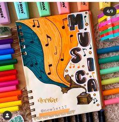 Bullet Journal Cover Ideas, Bullet Journal Banner, Bullet Journal Notebook, Bullet Journal School, Bullet Journal Inspo, Journal Covers, Lettering Tutorial, Hand Lettering, Notebook Art