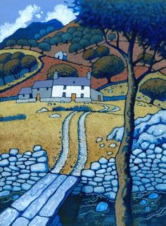 Chris Neale Studio - signed limited edition art prints and original artwork Art And Illustration, Illustrations, Landscape Art, Landscape Paintings, Naive Art, Print Artist, Rock Art, Original Artwork, Art Drawings