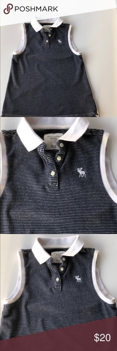 Abercrombie kids polo shirt Abercrombie kids polo shirt! In great condition! Girls size 11/12.  Comes from a smoke-free home!  Bundle and save! ✅See my excellent ratings! abercrombie kids Shirts & Tops Polos