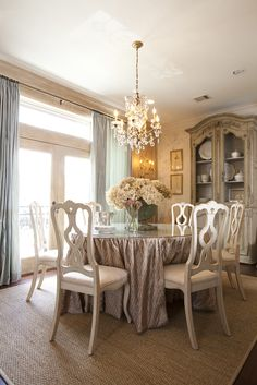 Pretty french inspirted dining room, from Cote de Texas Blog