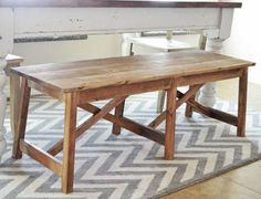 Rustic Double X Bench