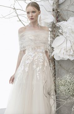 Featured Wedding Dress: Mira Zwillinger; www.mirazwillinger.com; Wedding dress idea.