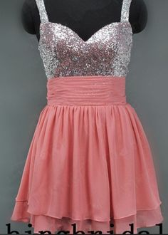 Coral prom dress short.