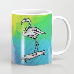 Flamingo Longboard Mug