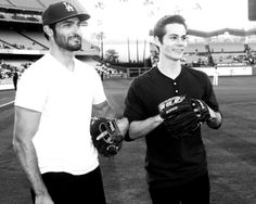 Dylan O'Brien and Tyler Hoechlin Teen Wolf Dylan, Teen Wolf Cast, Dylan O'brien, Teen Wolf Imagines, Teen Wolf Ships, The Scorch Trials, Hey Good Lookin, Tyler Hoechlin, Sterek