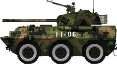Chinese PLA PL0 100 mm assault gun at the 2011 Beijing military parade.