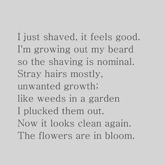 In Bloom-#poem #poetry #poetic #poeticwords #beards #manhair #beardgrowth #beardgrooming #communityofpoetsandpoetry #communityofpoets #beardstyle #beardsofinstagram #poetsofinstagram #spilledink #flowers#garden #bloom #inbloom #poetryisnotdead #poetrycommunity by samdabull