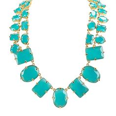 kate spade new york Coated Confetti Short Statement Necklace #VonMaur #KateSpade #Turquoise #Bold #Statement #Stone