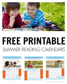 FREE printable summer reading calendars from no time for flash cards.