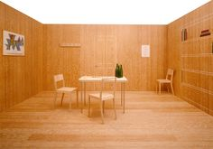 """""""Thingness"""", a retrospective exhibition by Jasper Morrison. Plywood Interior, Wooden Bedside Table, Royal College Of Art, Wood Interiors, Minimal Design, Interior And Exterior, Jasper, Furniture Design, Modern"""