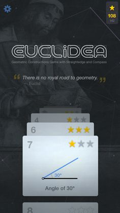 Euclidea is a collection of interactive geometric problems to solve. It is perfect for students, teachers, and all math lovers. Develop your logic, intuition, and imagination.