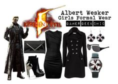 """""""Resident Evil 5 - Albert Wesker"""" by gamer-geek-chic ❤ liked on Polyvore featuring T By Alexander Wang, Wallis, Gareth Pugh, Call it SPRING and Ray-Ban"""