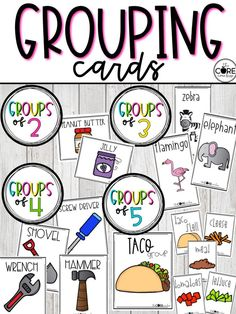 Easily group your students in groups of 2, 3, 4, 5, or more with these printable cards.