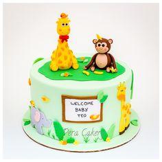 Safari themed cake for babyshower