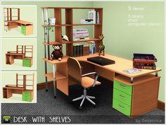 Severinka_'s set Desk with shelves