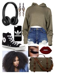 """Untitled #813"" by the-amazing-grace ❤ liked on Polyvore featuring Topshop, adidas, Beats by Dr. Dre, Converse, Lime Crime and Alexander McQueen"