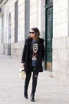 Black jeans, etc.