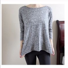 New Cozy Grey Top One small • soft and comfortable on • also available in cream • no tags - purchased directly from the vendor. Love Tree Tops