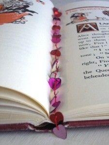 Sequin Heart Bookmark Craft