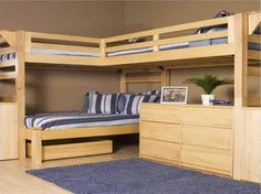 L Shaped Bunk Beds With Desk Inspirations