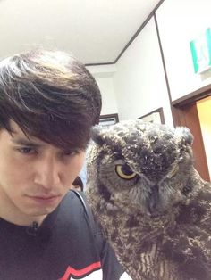Lee dong wook Imitating the owl's facial expression