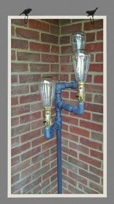 Vin-Dustrial Black Gas Pipe Floor Lamp by TheGasline on Etsy