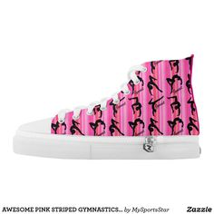 AWESOME PINK STRIPED GYMNASTICS HI TOP SNEAKERS Watch your Gymnast dazzle, sparkle and shine in our cool and colorful Gymnastics sneakers. Only available here at Zazzle! https://www.zazzle.com/collections/gymnastics_sneakers-119394231113334715?rf=238246180177746410&CMPN=share_dclit&lang=en&social=true #Gymnastics #Gymnast #WomensGymnastics #Gymnastsneakers #Gymnasticssneakers #Lovegymnastics