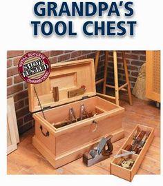 Ah! E se falando em madeira...: Caixa de ferramentas como antigamente