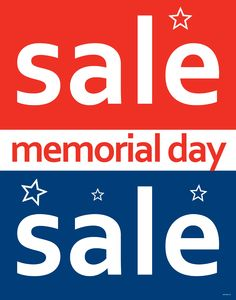 "Memorial Day Sale - Standard Poster - 22"" x 28"""