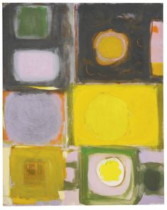 Lemon into Cadmium-Ochre into Black by Patrick Heron Patrick Heron, Abstract Art Images, Love Painting, Art Auction, Box Art, American Artists, Painting Inspiration, Illustration Art, Ellsworth Kelly