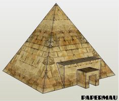A Simple Pyramid Paper Model For Dioramas, RPG And Wargames by Papermau - Download Now!