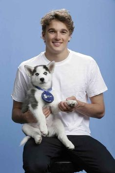 Nick Goepper (Skiing) | 15 U.S. Olympians Posing With A Siberian Husky Puppy Is The Cutest Thing You'll See Today