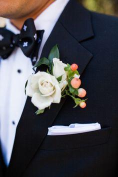 Boutonnière | Elegant Atlanta Wedding with New Orleans Style.