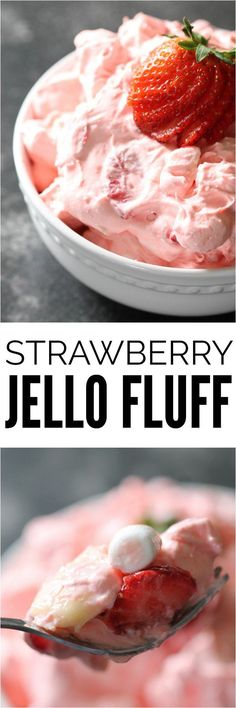 Strawberry Jello Fluff Salad | Six Sisters' Stuff