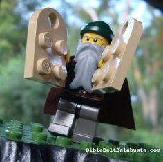 LEGO Moses on the Mountain