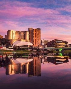 Australia Holidays, South Australia, Holiday Destinations, Travel Destinations, Seattle Skyline, New York Skyline, Living In Adelaide, Harbor View, Capital City
